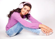 Pretty girl with earmuff Royalty Free Stock Image