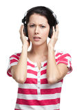 Pretty girl with earphones Royalty Free Stock Photo