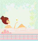 Pretty girl enjoying elegant spa Royalty Free Stock Photos