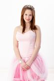 Pretty girl in evening dress Stock Image