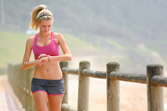 Pretty girl exercising Royalty Free Stock Photography
