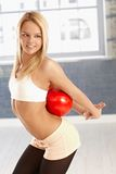 Pretty girl exercising with ball Royalty Free Stock Photo