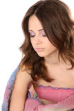 Pretty girl with eyes closed Stock Photo