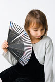 Pretty girl with fan Royalty Free Stock Image