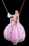 Pretty girl in fary-tale doll costume fly Royalty Free Stock Image