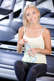Pretty girl during fitness class Royalty Free Stock Photo