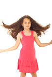Pretty girl flipping hair Stock Images
