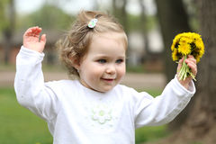 Pretty girl with flower Stock Images