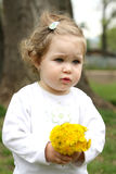 Pretty girl with flower Royalty Free Stock Photo