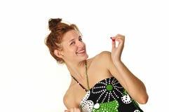 Pretty girl with fresh smile Royalty Free Stock Photos