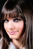 Pretty girl with fringe_2 Royalty Free Stock Images
