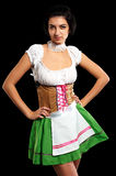 Pretty girl in german style Royalty Free Stock Images