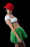 Pretty girl in german style Stock Photos