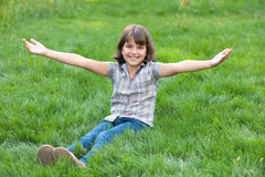 Pretty girl gets nature energy Royalty Free Stock Image