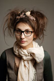 Pretty girl in glasses Royalty Free Stock Photography