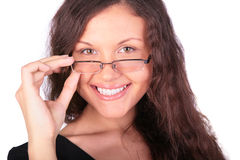 Pretty girl in glasses Stock Image