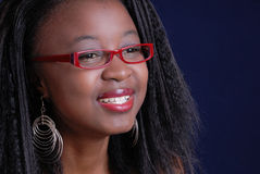 Pretty girl in glasses Stock Photos