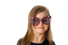Pretty girl with glasses Stock Photography