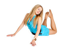 Pretty girl in grace position Stock Photo