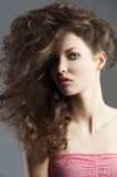 Pretty girl with great hair style Royalty Free Stock Image