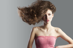 Pretty girl with great hair style. Stock Photography