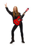 Pretty girl with guitar stock image