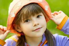 Pretty girl in a hat Royalty Free Stock Images