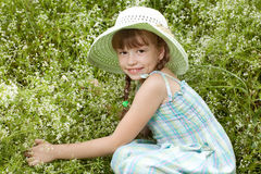 Pretty girl in the hat Royalty Free Stock Photos