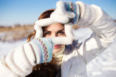 Pretty Girl Having Fun Outdoor, Royalty Free Stock Photography