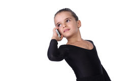 Pretty girl having phone Royalty Free Stock Photo