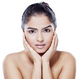 Pretty girl with healthy face Royalty Free Stock Image