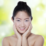 Pretty girl with healthy skin face Royalty Free Stock Photography