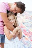 Pretty girl with her mother Stock Images
