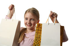 Pretty Girl Holding Shopping Bags Stock Image