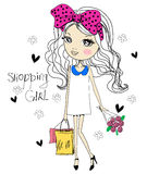 Pretty girl. Illustration of a pretty girl Royalty Free Stock Photos