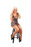 Pretty Girl In Short Dress. Stock Photography