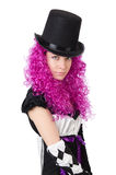 The pretty girl in jester costume  on Royalty Free Stock Photos