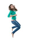 Pretty girl jumping Royalty Free Stock Images