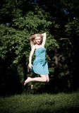 Pretty Girl Jumping Royalty Free Stock Photo