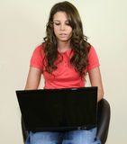 Pretty Girl with laptop Stock Photo