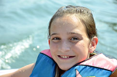 Pretty girl in Life Jacket Stock Photos