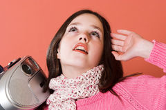 Free Pretty Girl Listening Music Stock Photos - 2040493
