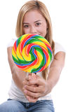 Pretty Girl With Lollipop Stock Image