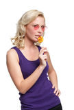 Pretty girl with lollypop Stock Photo