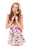 Pretty girl with lollypops Royalty Free Stock Images
