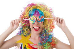 Pretty girl with lollypops Stock Photo
