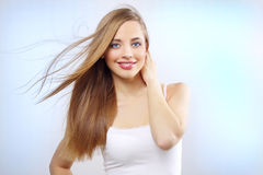 Pretty girl with long hair Royalty Free Stock Photos