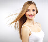 Pretty girl with long hair Stock Photography