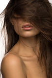 Pretty girl with long hair Stock Images