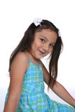 Pretty girl with long pigtails Stock Photography